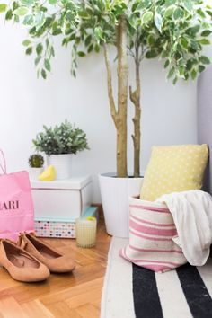 Try This IKEA Hack and Transform a Simple $4 Rug into a Basket | Brit + Co