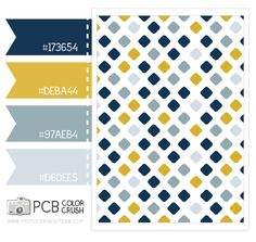 Color and pattern crush : golden rod, navy and gray blue. Color ideas for the boys' room