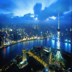 Xangai - Vista de cima Prédio Pérola do Oriente