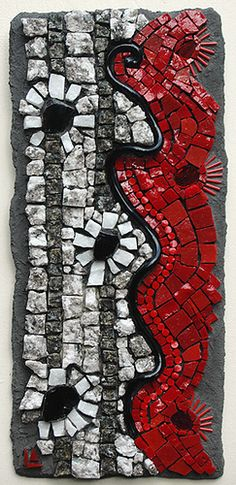 Simply Red Exhibition – Contemporary Mosaic Art – Ciel Gallery – Charlotte, North Carolina | Mosaic Art Source