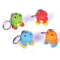 $10.99 for:  24 (2 dz) ~ Tree Frog Key Chains ~ Squeezable Rubbery ~ Approx. 1.5 Frog ~ Assorted Colors ~ New ~ Zipper Pulls ~ http://www.amazon.com/dp/B009WCJZPI/ref=cm_sw_r_pi_dp_QqyLrb0T3DP0P