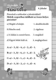 Teki-Totó Word Search, Puzzle, Words, Puzzles, Horse, Puzzle Games, Riddles