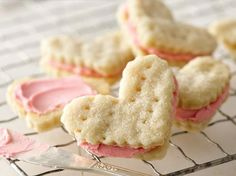 Valentine Cream Wafers....these are my favorite cookies. Why have I never thought to cut them as hearts for Valentines Day?!