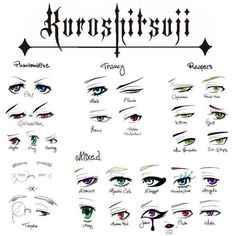 Black Butler Eyes I'll draw this on a paper & use it to help me when trying…