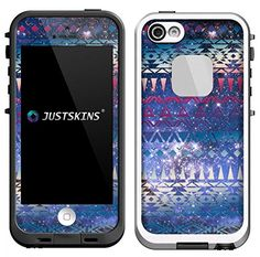 Purple Galaxy Aztec Protective Vinyl Skin/Decal/Sticker. Compatible with iPhone 5/5S Lifeproof Case. (Case not included). For sale on Amazon for $7.99, by ARDOR Designs.