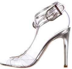 Emilio Pucci Metallic & Clear Sandals