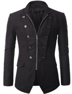 Mens Jacket Blazer with Zipper