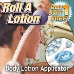 Now you can easily apply lotion to your back and elsewhere while massaging your muscles - without the need to twist and turn into a human pretzel. Just fill Roll A Lotion Massager and Lotion Applicator with your favorite moisturizer, oil or bath gel.The 19 rolling balls soothe and invigorate as they massage in the liquid. The removable handle makes it easy to reach your back.You can slide the handle off the applicator to massage your arms or legs without getting your hands greasy…