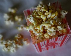 Popcorn with nutritional yeast. Yummy & nutritious.