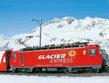 Glacier Express in Switzerland scenic train route from Zermatt to St Moritz