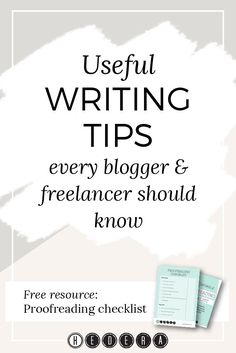 Useful writing tips every blogger & freelancer should know