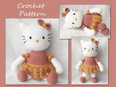Amigurumi Kitty Amigurumi Pattern Crochet Sweet by LovelyBabyGift, $5.50