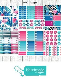 Flamingo, planner sticker kit. 6 sheets 5x7 and 1 sampler sheet included. Sized for Erin Condren, but will work in most planners. from DEK Designs https://www.amazon.com/dp/B01FCDNQ14/ref=hnd_sw_r_pi_dp_ubKGxbN2TPPNE #handmadeatamazon