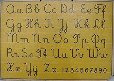 Schoolplaten uit de jaren 50 tot 70...This was the type of penmanship I was…