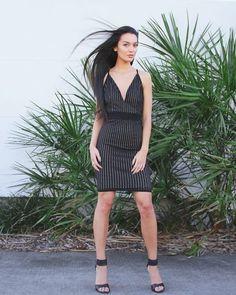 Nina Bodycon- Black. Available now at Amari K Boutique