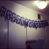 Doctor Who party TARDIS birthday banner
