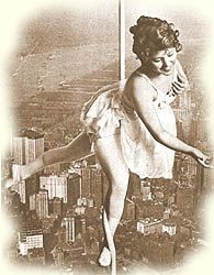 Lillian Leitzel was known as the Queen of the Circus. Renowned for her beauty, her grace, and her amazing one-arm swings, which made her resemble a human pinwheel in the air, she was the first person named to the Circus Hall of Fame.