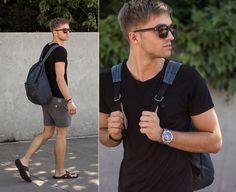 Tate Backpack, Zara T Shirt, Zalando Short