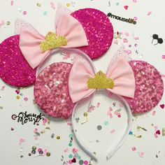 Sleeping Beauty. New pink sequin mouse ears on #shophouseofmouse