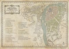This set of maps was a commission for a kickstarter pen and paper RPG setting project. As usual, it& digitally hand-drawn in PS, each map is US Letter size.PLASSE 2015 - All rights reserved Prague Map, Prague City, Fantasy Map Maker, Map Diagram, Map Projects, Saint Georges, Rp Ideas, Fantasy Fiction, Writing Resources