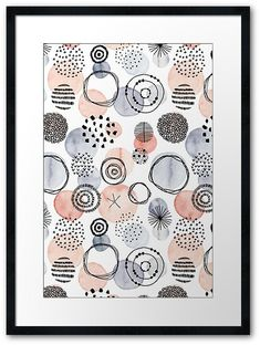 Watercolor Circles, Abstract Watercolor Art, Watercolor Pattern, Watercolor And Ink, Watercolor Paintings, Watercolour Palette, Watercolors, Grey Palette, Circle Art