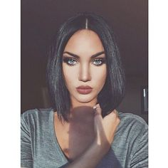 Short Bob Synthetic Lace Front Wigs for Women L Part Black Color Light Yaki Straight Heat Resistant Synthetic Hair Replacement Wigs Synthetic Lace Front Wigs, Synthetic Hair, Short Bob Wigs, Human Hair Lace Wigs, How To Make Hair, Look At You, Gorgeous Hair, Weave Hairstyles, Dark Hair