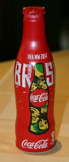 NEW - Coca Cola Alu bottle FIFA 2014 Brasil from Austria