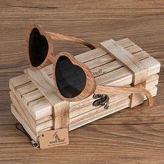 BOBO BIRD Brand Wood Sunglasses Women and Men Heart-shaped Sunglasses