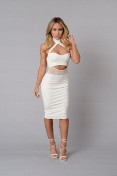 Modesty Dress - White