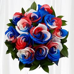 These killer roses are unique and patriotic. Available for ...