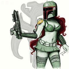 Star Wars Pinup Fan Art http://geekxgirls.com/article.php?ID=3231