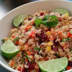 Cranberry and Cilantro Quinoa Salad - Allrecipes.com looked it up 5 star!!