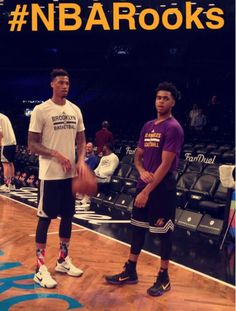 #NBARooks D'Angelo Russell of the Lakers and Chris McCullough of the @BrooklynNets!