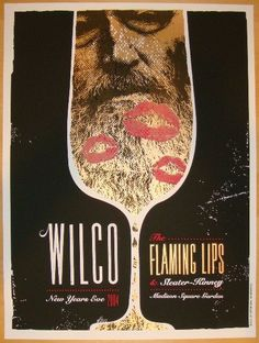 2004 Wilco & Flaming Lips - NYE Concert Poster by Heads of State