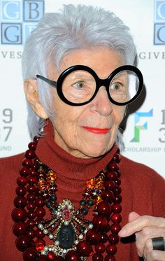 Iris Apfel attends the 2012 YMA Fashion Scholarship Fund Geoffrey Beene National Scholarship Awards dinner at the Waldorf Astoria Hotel on J...