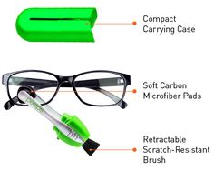 peeps™ by CarbonKlean – Keep Glasses Crystal Clear with Carbon Technology!