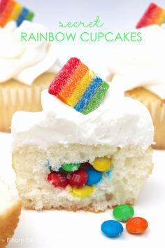 Secret Rainbow Cupcakes