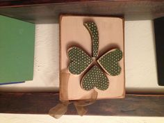 Fun Shamrock Block! I drew up the idea, cut it out in the shop, then painted in my craft room! Fun day crafting!!