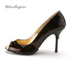 Dark Chocolate #heels yellowladybird korean independent designer k-pop luxury shine stiletto
