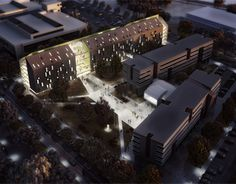 """""""Student Housing Osijek - competition entry first prize"""" http://be.net/gallery/32391707/Student-Housing-Osijek"""