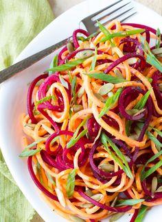 {Raw} Beet and Sweet Potato Salad