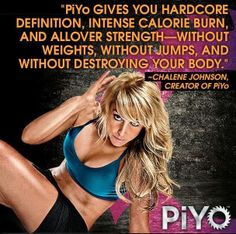 "With my Back injury I am super excited for the release of this new Beachbody Workout!!  PiYo is Coming!!!  I can't wait to Get Mine in VEGAS next week!!  ""PiYo gives you hardcore definition, intense calorie burn, and allover strength—without weights, without jumps, and without destroying your body.""  Check out the details here > http://saraestakeley.blogspot.com/2014/06/piyo.html"