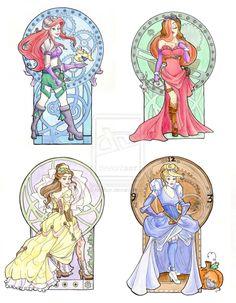 Steampunk Disney Girls