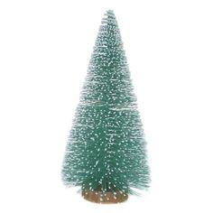 """Bottle Brush Tree with Wood Base Teal 12""""  -Threshold™"""