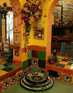 Mexican decor: never dull! talavera #decor
