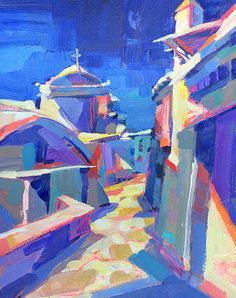 Greece Hilltop by Patti Mollica
