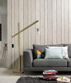 Authentic heter tapetkolleksjonen hvor du finner denne designen. Tapetet gir assosiasjoner til panel. www.fantasi.no