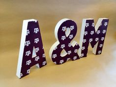 Texas A&M Letters -  Aggies, Home Decor, NCAA, College, Basketball, Football, Graduation, Party, Nursery, Dorm Room, Paper Mache Letters on Etsy, $25.00