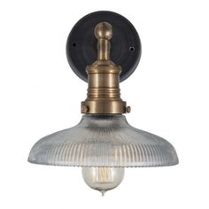 Brooklyn Vintage Antique Ribbed Glass Sconce Wall Lamp