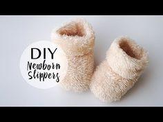 Пинетки зимние на двух спицах   Winter baby knitting booties - YouTube